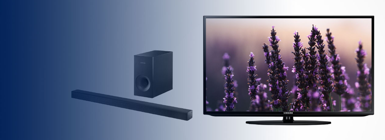 Increíbles promociones en Samsung TV LED + sound bar con Credomatic