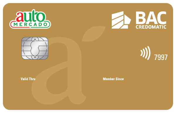 Tarjeta Automercado BAC Credomatic Dorada