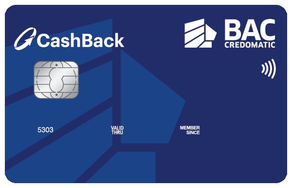Tarjeta de Crédito Cashback Azul Clásica BAC Credomatic