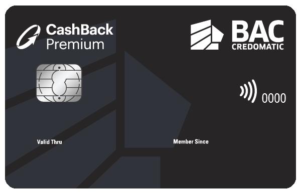 Tarjeta de crédito Cashback Premium Black BAC Credomatic