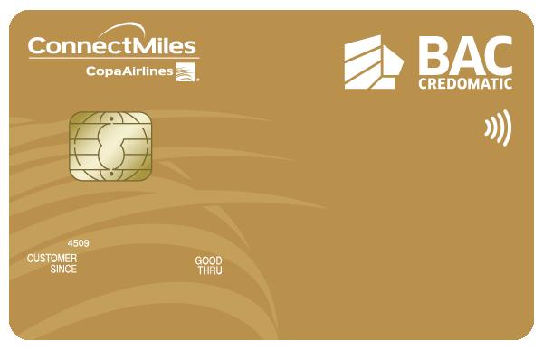 Tarjeta de Crédito Dorada ConnectMiles BAC Credomatic