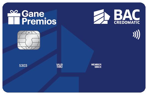 Tarjeta de Crédito Gane Premio BAC Credomatic Azul Clásica