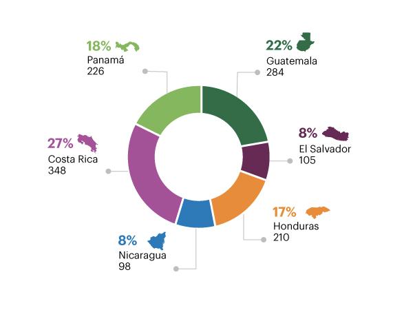 Empresas cliente a las que se aplicó SARAS, por país (Dic. 2016)