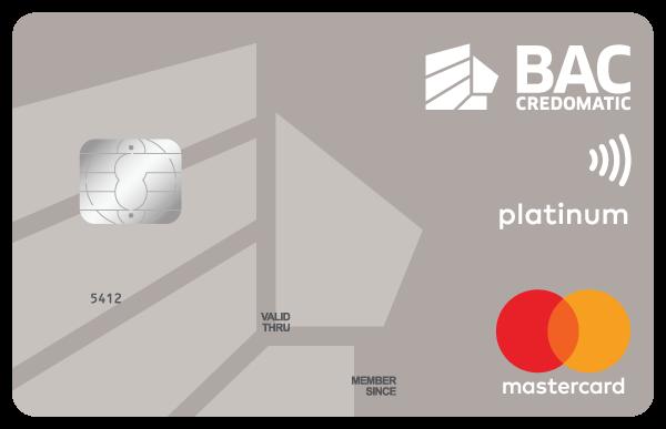 Tarjeta Acumula Puntos BAC Credomatic Mastercard Platino