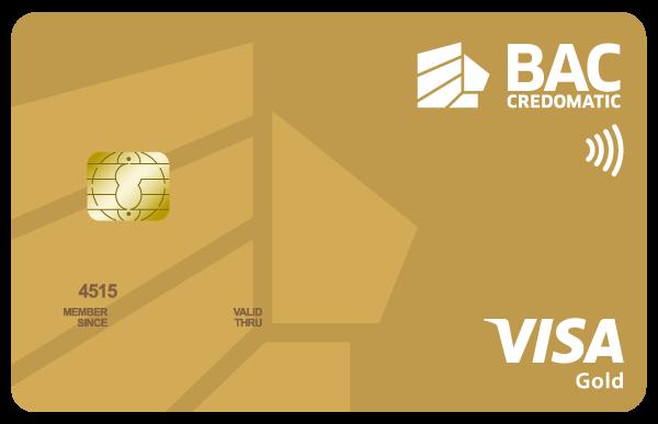 Tarjeta Visa Gold Acumula Puntos BAC Credomatic