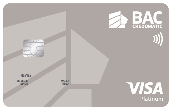 Tarjeta Acumula Puntos BAC Credomatic Platinum Visa
