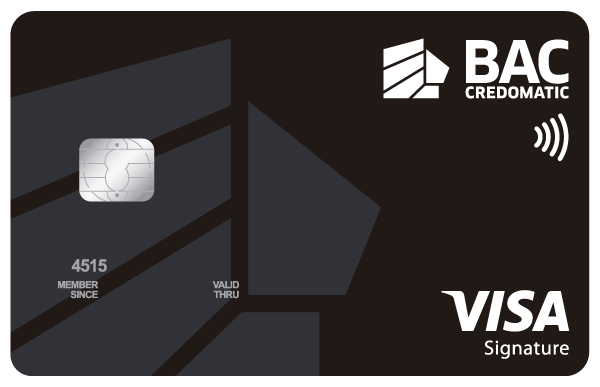 Tarjeta Acumula Puntos BAC Credomatic Visa Signature Black