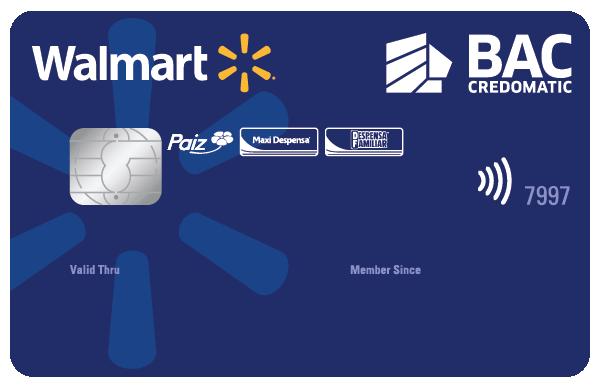 Tarjeta de Crédito Walmart BAC Credomatic Azul Clásica