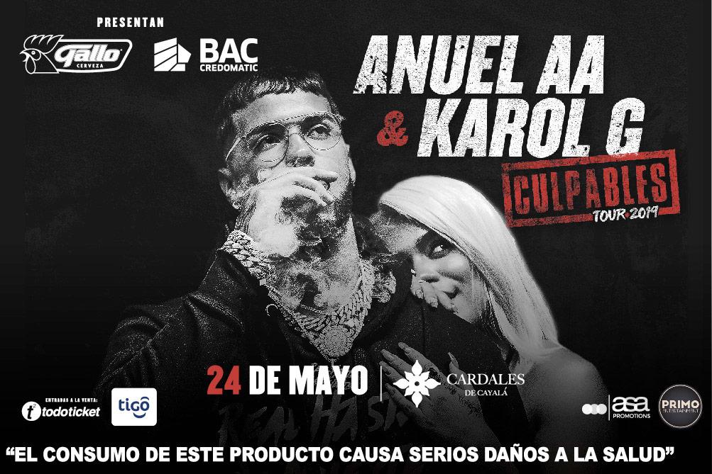 Anuel AA y Karol G en Guatemala