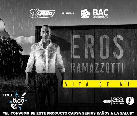 Eros Ramazzotti en Guatemala