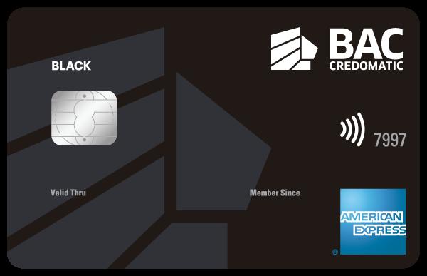 Tarjeta American Express Black BAC Credomatic