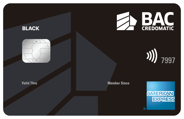 Tarjeta de Crédito Black American BAC Credomatic