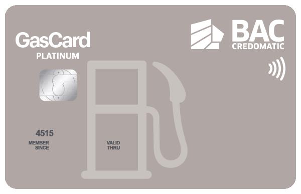 Tarjeta de Crédito Gascard Platino BAC Credomatic