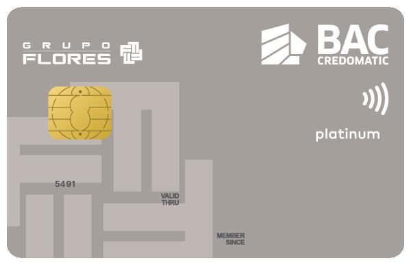 Tarjeta de Crédito Grupo Flores BAC Credomatic Platino