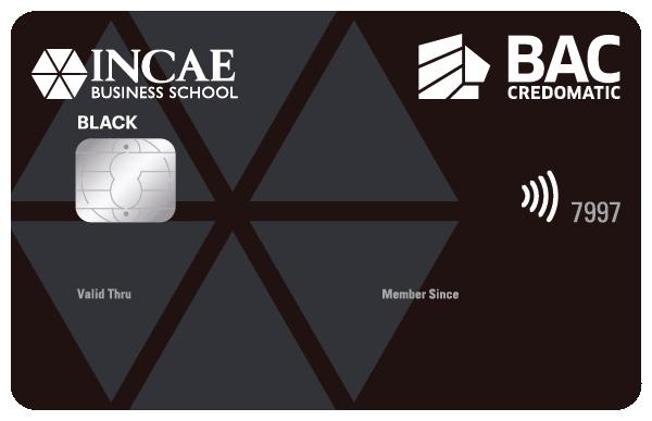Tarjeta de Crédito INCAE Black BAC Credomatic