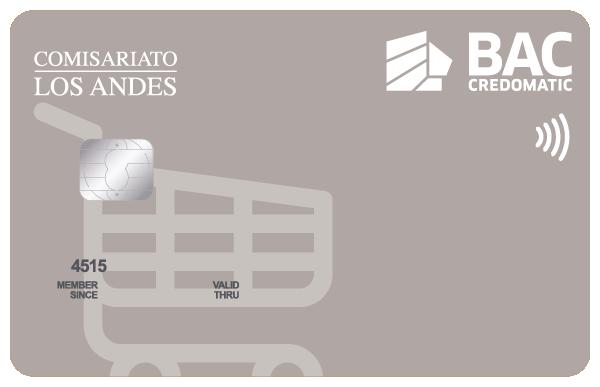 Tarjeta de Crédito Comisariato Los Andes BAC Credomatic