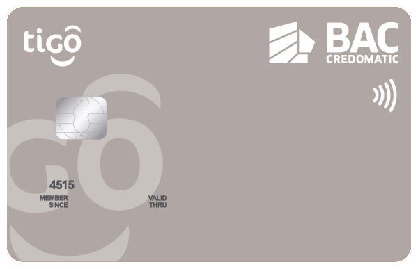 Tarjeta de Crédito Tigo Platino BAC Credomatic