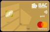 Tarjeta Acumula Puntos BAC Credomatic Mastercard Dorada