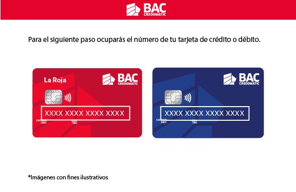 Para el siguiente paso ocuparás el número de tu tarjeta de crédito o débito.