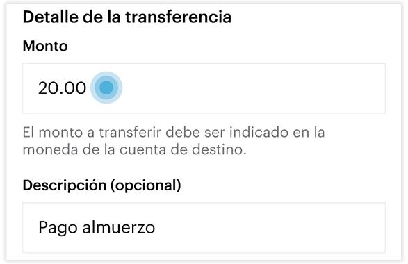 Transferencia local - Paso 5