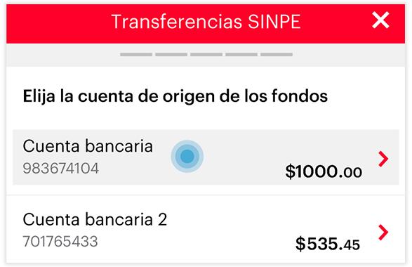 Transferencia SINPE - Paso 3