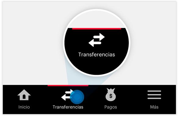Transferencia SINPE MOVIL - Paso 1