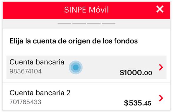 Transferencia SINPE MOVIL - Paso 4