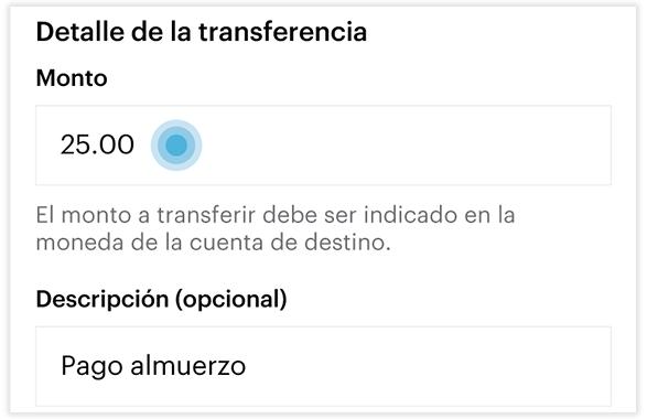 Transferencia SINPE MOVIL - Paso 5