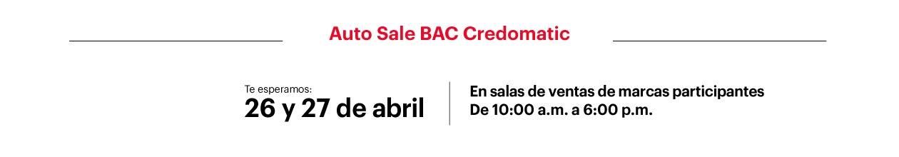 Auto Sale BAC Credomatic 01
