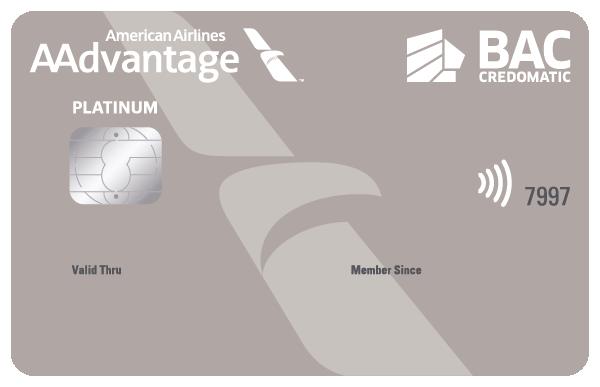 Tarjeta de Crédito Aadvantage Platino BAC Credomatic
