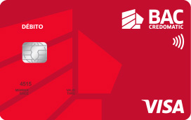 Tarjeta de débito Visa clásica de BAC Credomatic