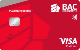 Tarjeta de débito Visa Platinum de BAC Credomatic