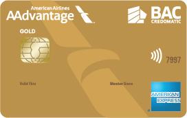 Tarjeta de Crédito AAdvantage Dorada Amex de BAC Credomatic