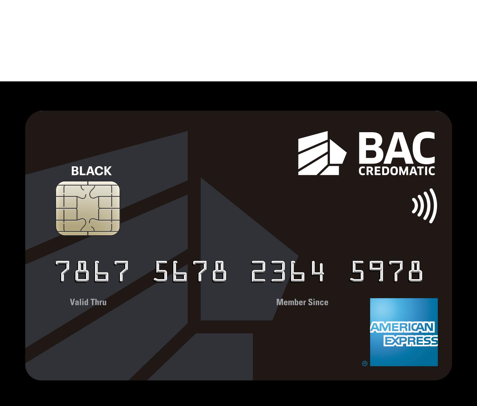 Tarjeta de Crédito American Express Black Bac Credomatic