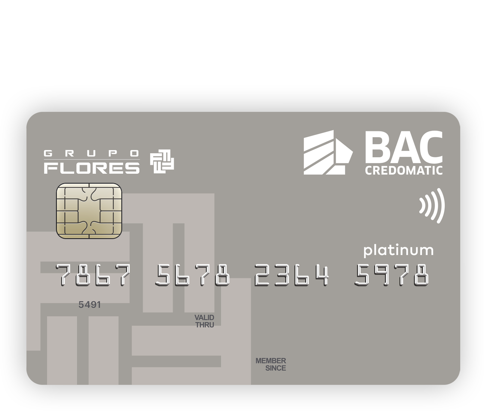 Tarjeta Flores Platino MasterCard