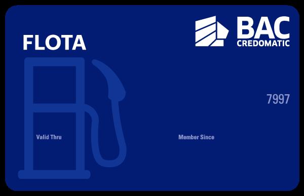 Tarjeta de Crédito Flota Azul BAC Credomatic