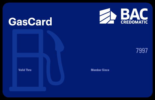 Tarjeta de Crédito GasCard Clásica BAC Credomatic
