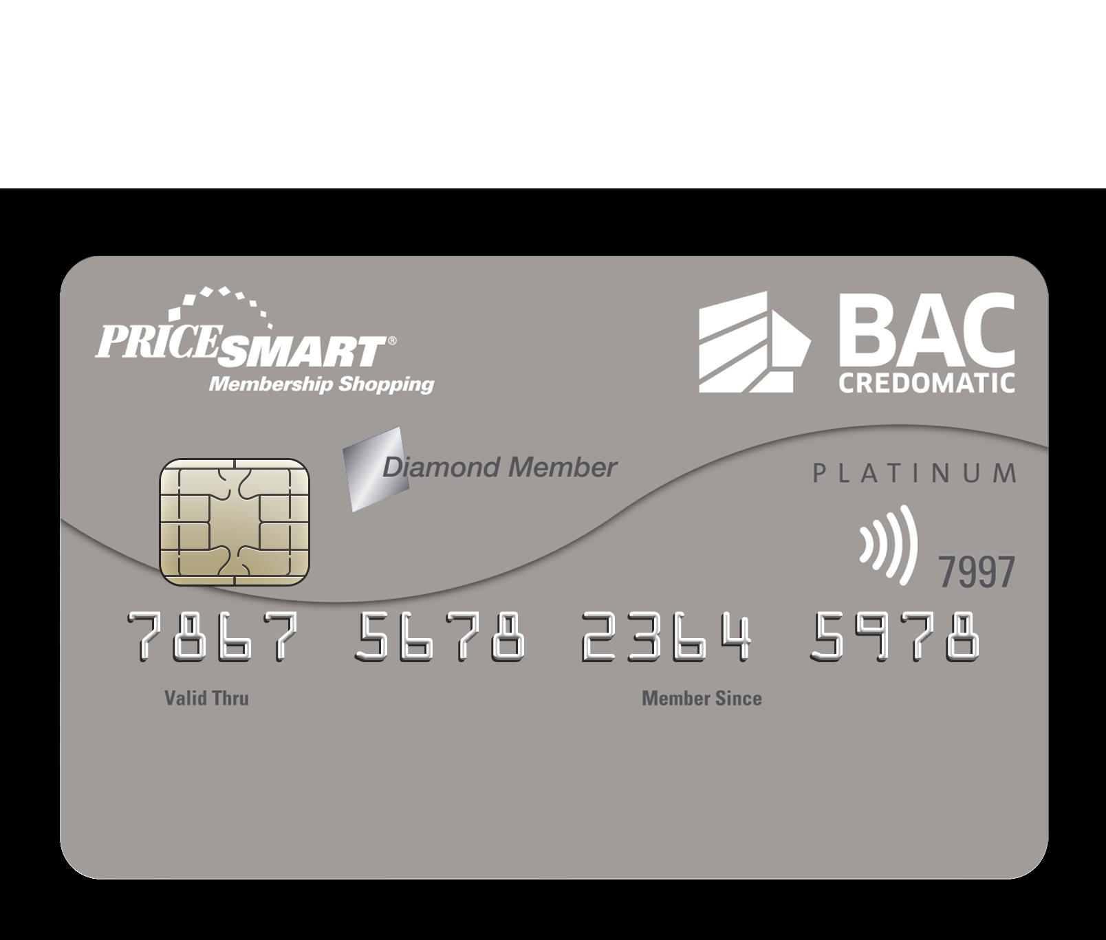 Tarjeta de Crédito Pricesmart American Express BAC Credomatic Platino