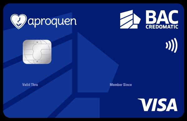 Tarjeta de Crédito Aproquen Clásica Azul BAC Credomatic