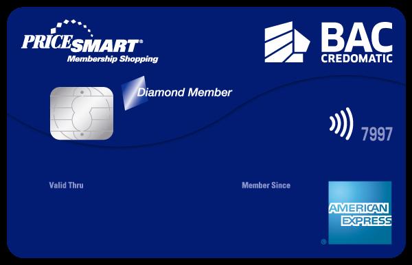 Tarjeta de Crédito Pricesmart American Express BAC Credomatic Clásica
