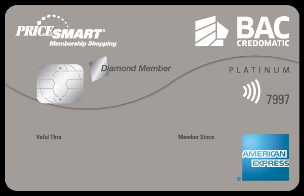 Tarjeta de Crédito Pricesmart American Express BAC Credomatic Platinum